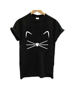 T-Shirt moustache chat