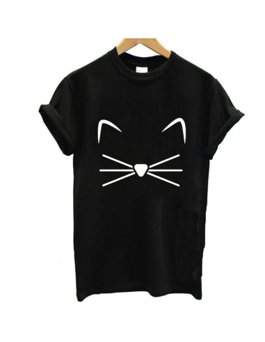 T-Shirt moustache chat