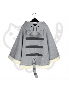 Poncho polaire chat