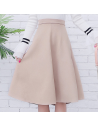 Jupe taille haute style daim