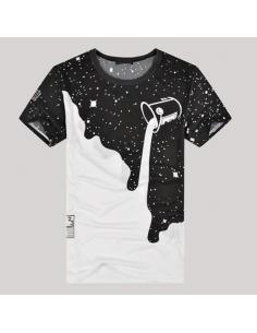 T-shirt imprimé noir et blanc