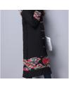 Manteau long japonais brodés