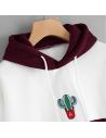 Sweat à capuche cactus