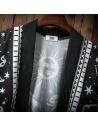 Kimono cardigan noir et blanc