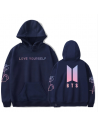 Sweatshirt à capuche Harajuku BTS K-POP