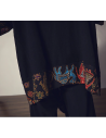 Kimono cardigan long à broderies