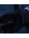 Veste bomber brodé bleu jean