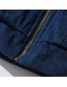 Veste bomber brodés bleu jean