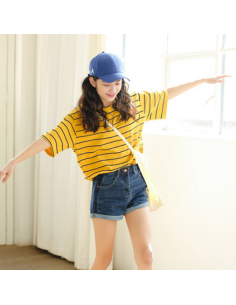 T-shirt oversiez jaune