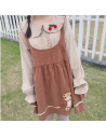 Robe Japonais Kawaii Brodé ourson