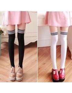 Chaussettes hautes avec bandes