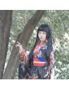 Costume traditionnel Japonais imprimé floral