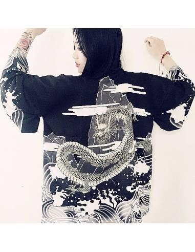 Kimono japonais été dragon