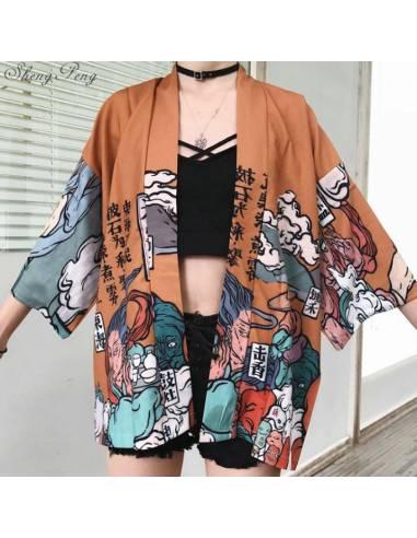 Kimono Moji orange