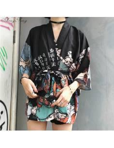 Kimono Moji noir