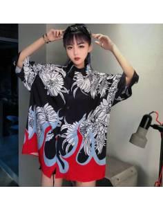 Kimono chemisier flammes