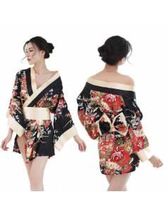 Kimono de nuit imprimés floraux