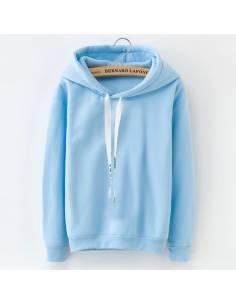 Sweat à capuche flashy bleu