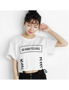 "Crop top ""No hard feelings"""