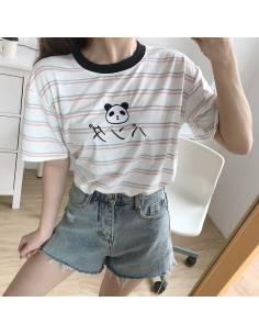 T-shirt à rayure Panda