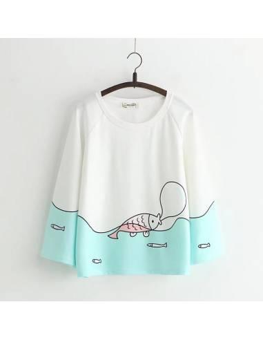 T-shirt Harajuku Awa