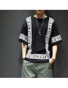 T-shirt Harajuku white & Black