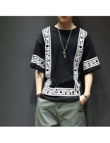T-shirt Harajuku white & Black