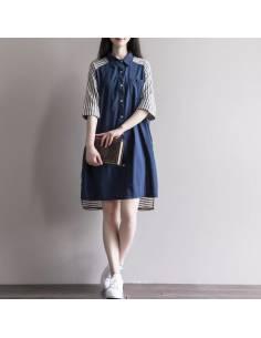 Robe Mori Bleu jeans à rayures