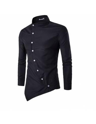 Chemise à boutons obliques
