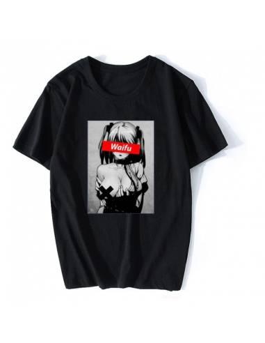 T-shirt Waifu Anime Hadaka no mune