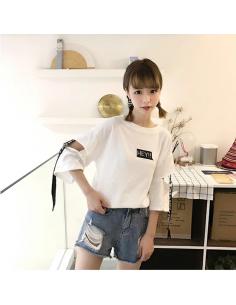 T-shirt Harajuku Manches séparés