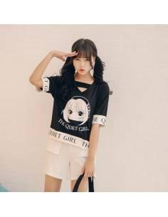 T-shirt Kawaii The Quiet Girl