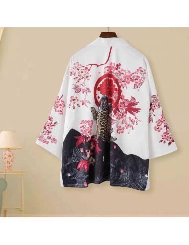 Kimono Shiro to pinku