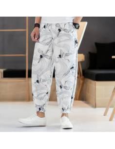 Pantalon décontracté blanc Kurēn