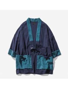 Kimono homme poches ventrales