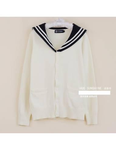 Cardigan uniforme scolaire col marin