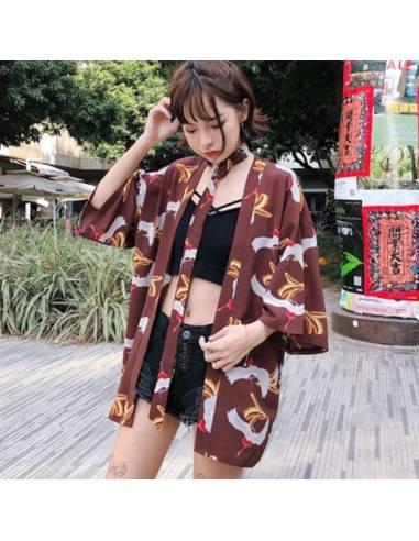Kimono Yukata Akai hane