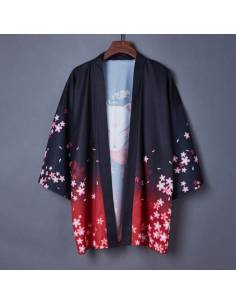 Kimono Yukata Kuro to aka neko