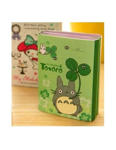 Carnet feuilles papier Totoro