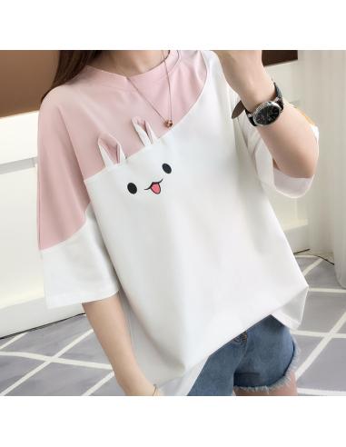 T-shirt Rose Rabitto